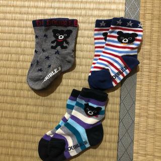 ミキハウス☆ベビー靴下 3足セット