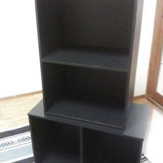 黒カラーボックス2個