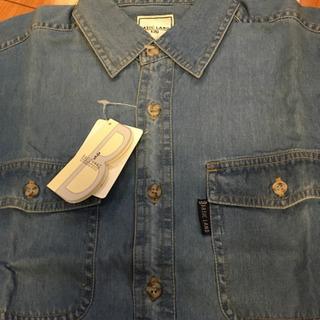 デニム半袖シャツ130新品