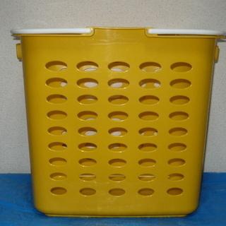 ランドリーバスケット 深型・特大 黄色