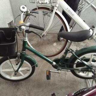 無印良品 子供自転車 ダークグリーン 16型