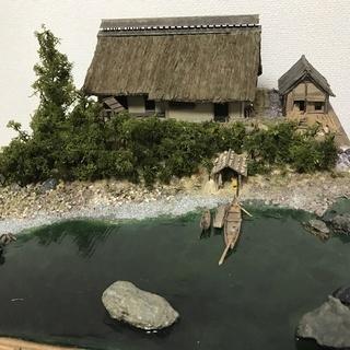 フルスクラッチ 水辺に住む船大工の古民家1/50