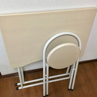 折りたたみテーブル、椅子