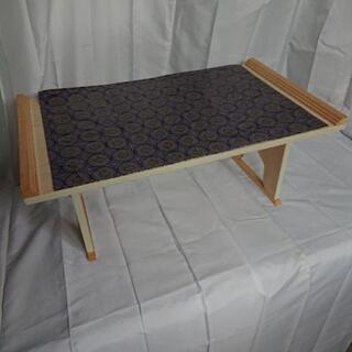 木製 折り畳み式 白木経机 マット付き 中古