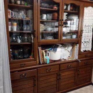 本格食器棚 両面ハッチ 180×180