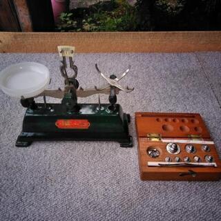 【レトロ】上皿 天秤 分銅付き