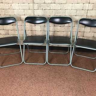S63 折りたたみパイプ椅子 中古 4客セット 椅子 イス