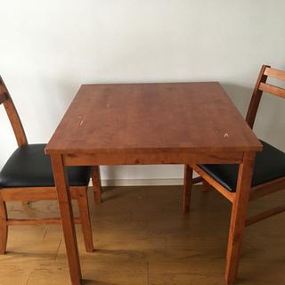 木製ダイニングテーブルセット☆椅子2脚