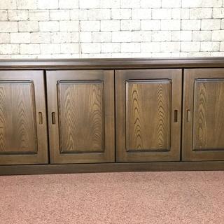 s65 中古 大きいサイズの サイドボード 収納 木製 重役室 横...