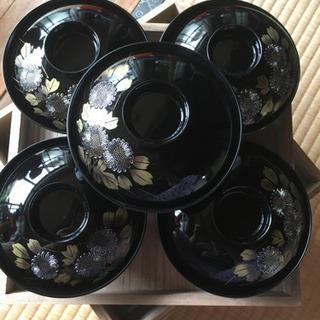 汁椀 5個セット 黒色