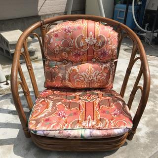 チェア ラタン チェア 籐 座椅子 アジアン 木製 回転椅子