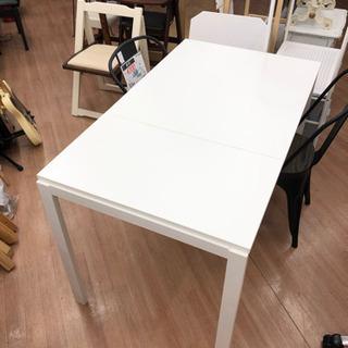 【IKEA】伸長デスク ダイニングテーブル 机 (幅80-120...