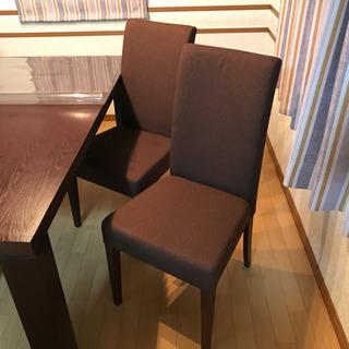 ダイニングテーブル 椅子4脚 ダークブラウン