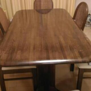 小菅の高級大型ダイニングテーブル ブラウン