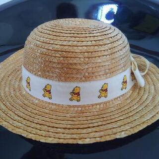 麦わら帽子 キッズ ベビー 子供用 くまのプーさん 帽子 48 ...