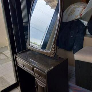 鏡台 1面鏡 椅子付き