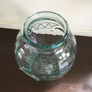 大きなガラスの金魚鉢