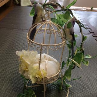 結婚式に*幸せの青い鳥ハンドメイドリングピロー*