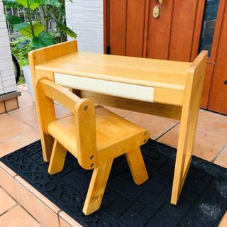 【kids】木製の可愛い机・椅子のセット