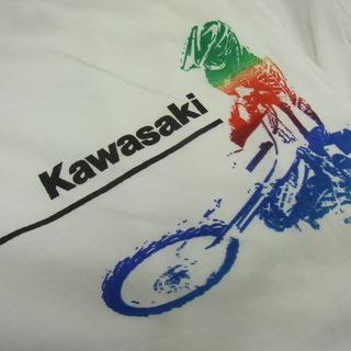 新品 カワサキのTシャツ kawasaki バイク モトクロス ...