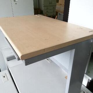 木目天板オフィスデスクセット☆お安く提供致します♪