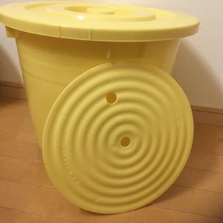 つけもの容器 30型 漬物樽 押し蓋つき