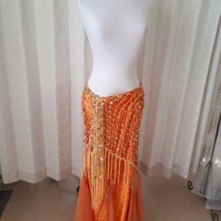 ベリー衣装マーメードスカート&ヒップベルト🧡オレンジ色
