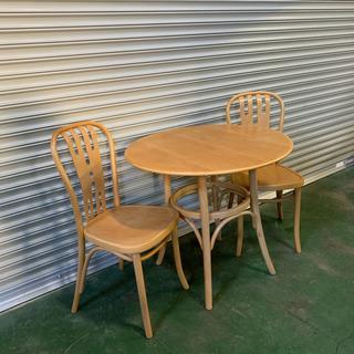 ダイニングテーブル と 椅子2脚 のセット 東