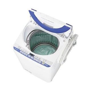 シャープ 洗濯機 (7.0kg) ブルー ES-T707