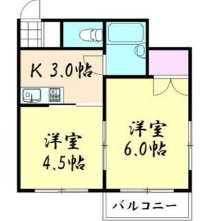 天王寺区希少2K!!最寄駅まで徒歩5分!初期費用¥17,000-!...