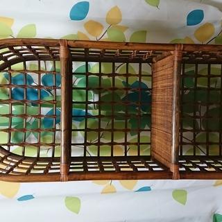 籐製 棚 ラック 3段