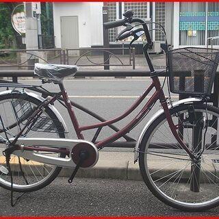 ★新車・お買い得・ホームサイクル・ママチャリ・24インチ・ワインレッド