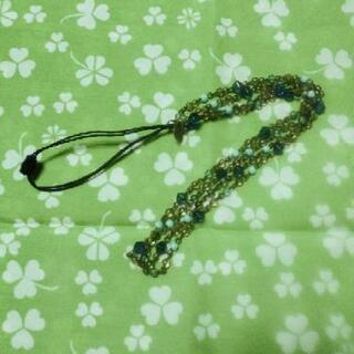 ガラスビーズ2連ネックレス