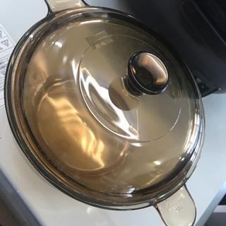 ガラス製 両手鍋 1,5L