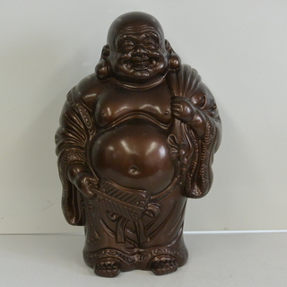 寿光作 布袋 陶器の置物 高さ41㎝ 4kg 扇 七福神 …
