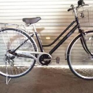 中古自転車27インチ黒色