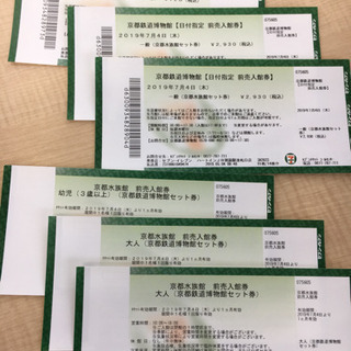 急募 京都水族館&鉄道博物館の入場券