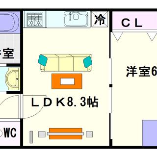 【サザンパークス】5号タイプ!1LDKタイプ!広いリビングに広い収納☆