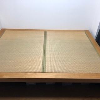 和室畳フレーム ベッド兼用 高級木材と井草高級畳でオーダーメイド
