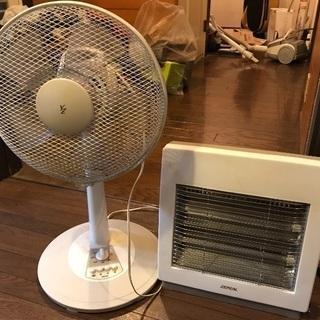 扇風機と電気ストーブお譲りします