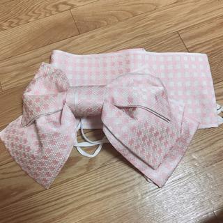 浴衣作り帯 ピンク