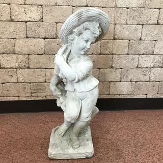 S78 石膏? 石のお人形 お庭のアクセントに 高さ70cm 横...