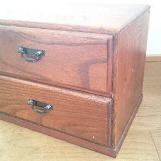 値下げ‼引越のため早期お取り引き希望◆木製小物入れ・二段引き出し◆