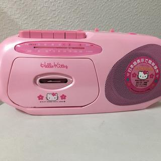 ハローキティ  ラジオカセットレコーダー