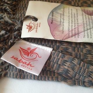 【新品】ブータン産・伝統手編みショール