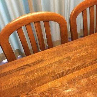 日本製 カリモク ダイニングセット(テーブル+椅子4脚)