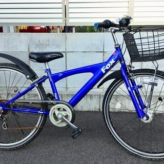 <良品>26インチ・ジュニア自転車・シマノ変速 6段シフト LE...