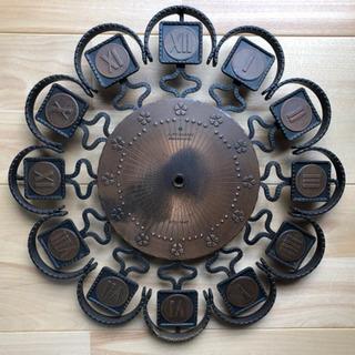*決定*ジャンク品★ブロンズ 壁掛け時計★ 要修理・引取限定