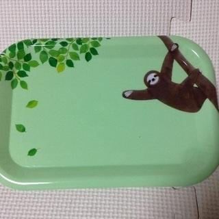 【新品 未使用】なまけもの 三つ指なまけものトレー グリーン 動物