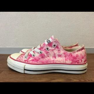 ピンク タイダイ柄コンバース